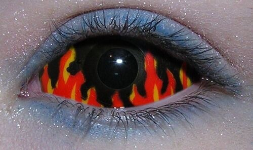 flames, archive, eye makeup and eye