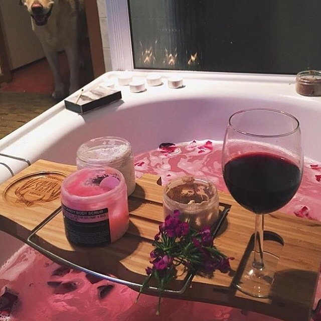 pink, bath, spring and goal