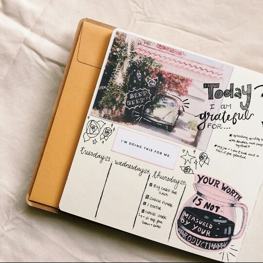 tumblr, writing, creative and bullet journal