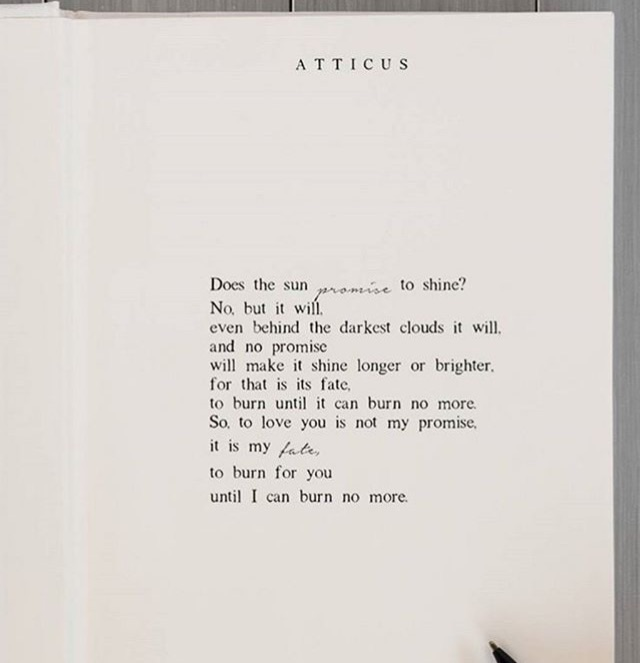 atticus, poem, fate and poet