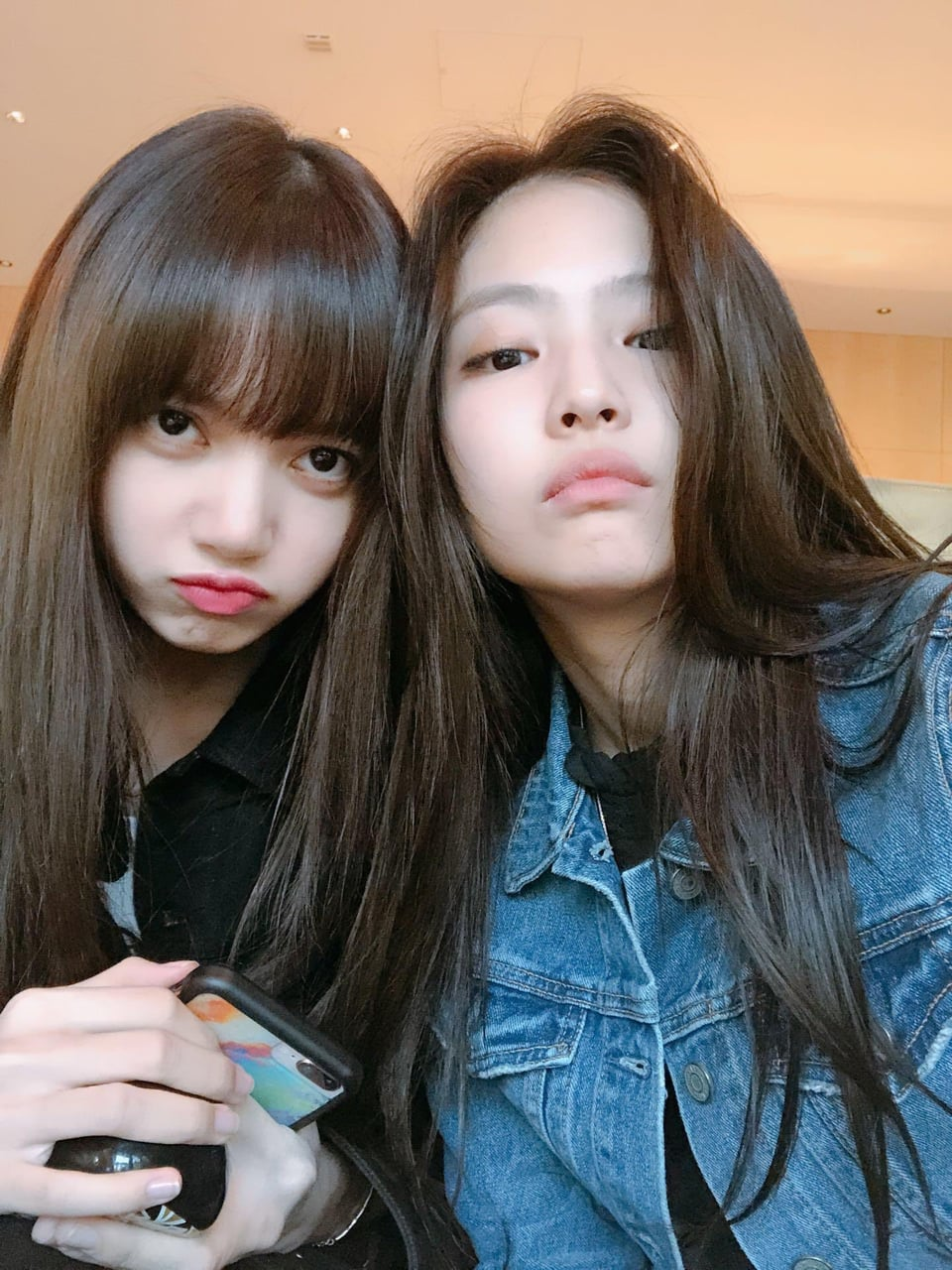 lockscreen, couple, bp jennie and lisa