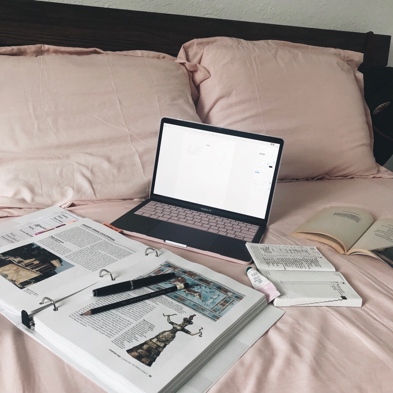 studyspo, journal, Q and studying