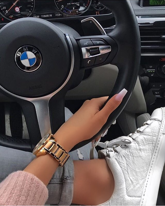 ombre, shoes, watch and ombre nails