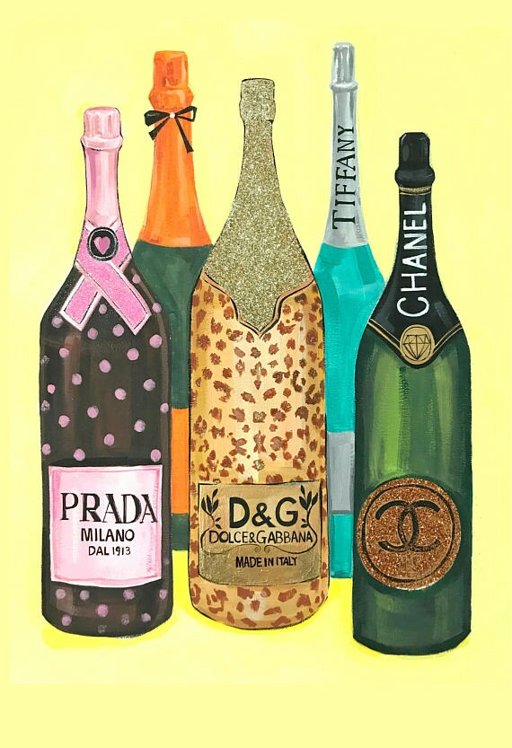 alcohol, tiffany's, champagne and art
