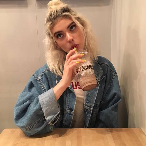 blonde, drink, girls and hair