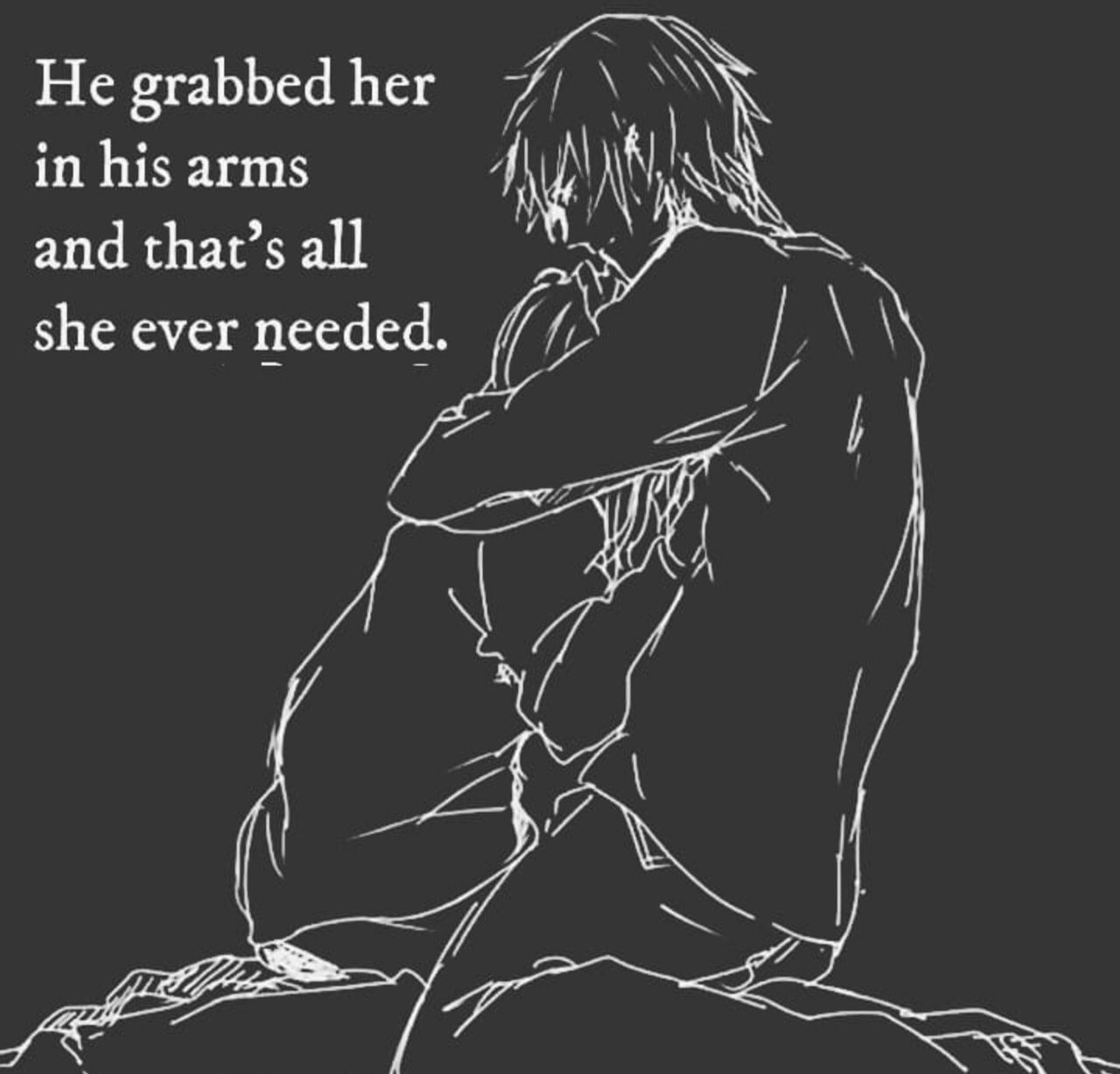 sad, her, grabbed and couple