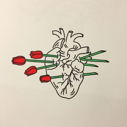 heart, flowers, aesthetic and roses