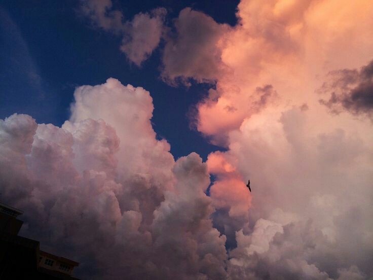 color, pink, clouds and random