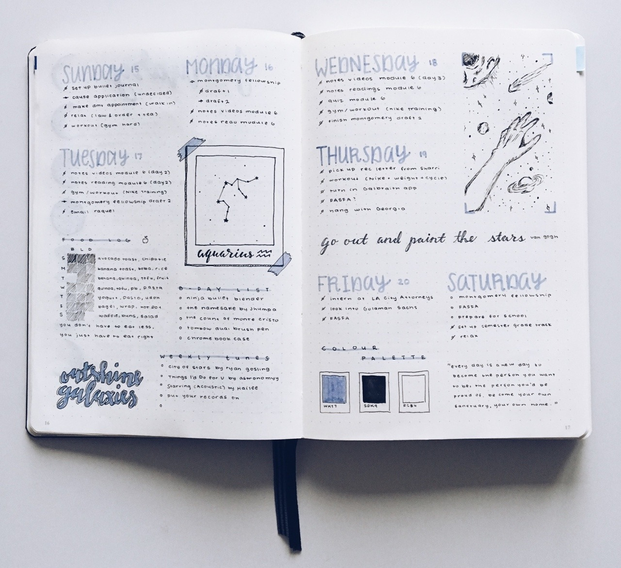 bujo and bullet journal