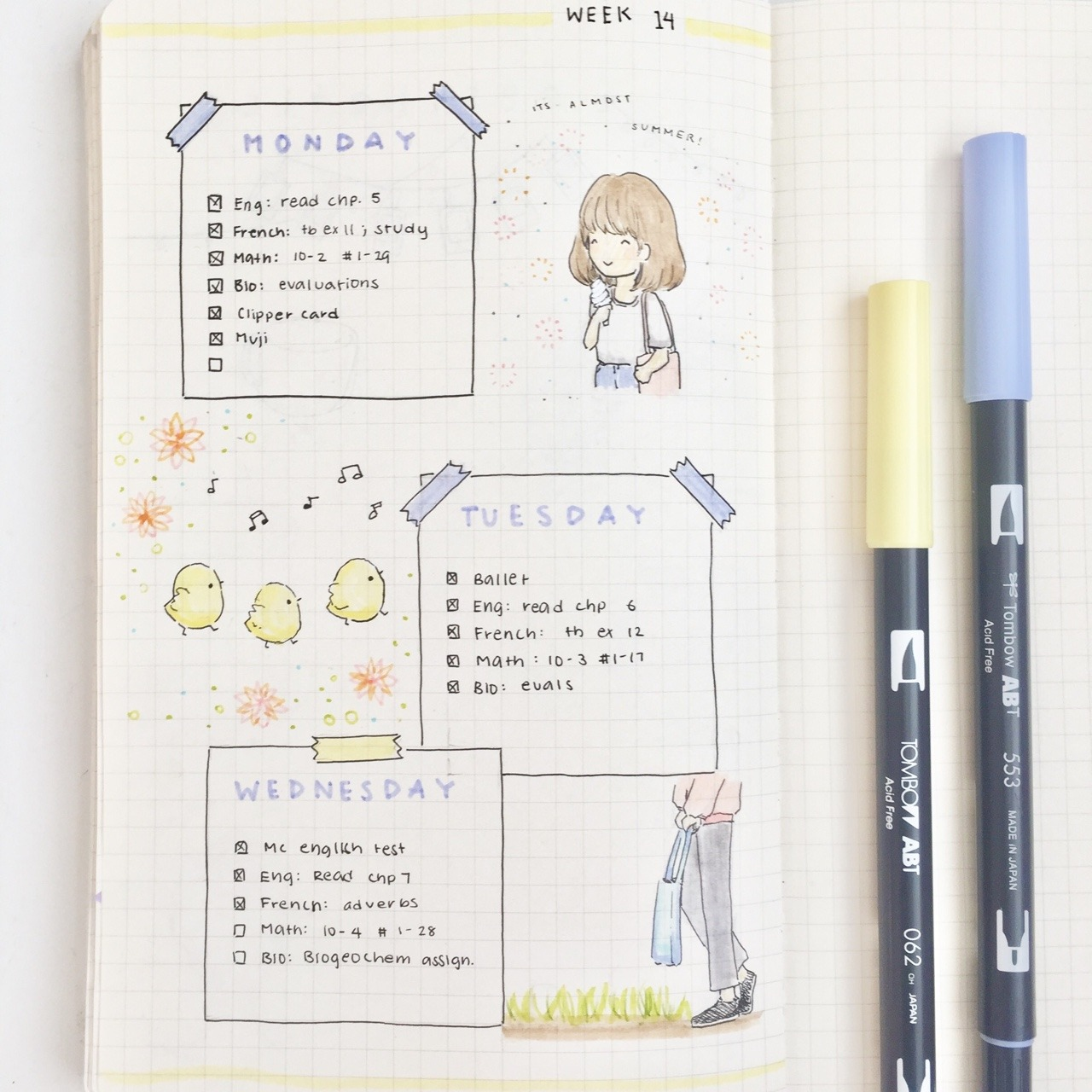 bullet journal, pastel and bujo