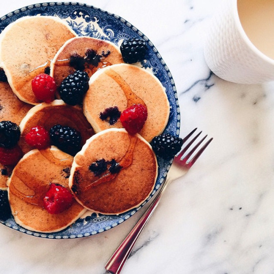 berries, food, pretty and pancakes