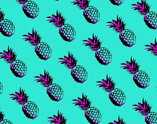 wallpapers, art, pineapple and purple