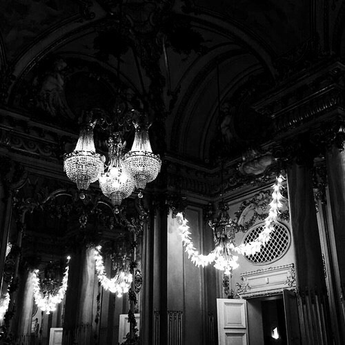 art, bw, chandelier and black and white