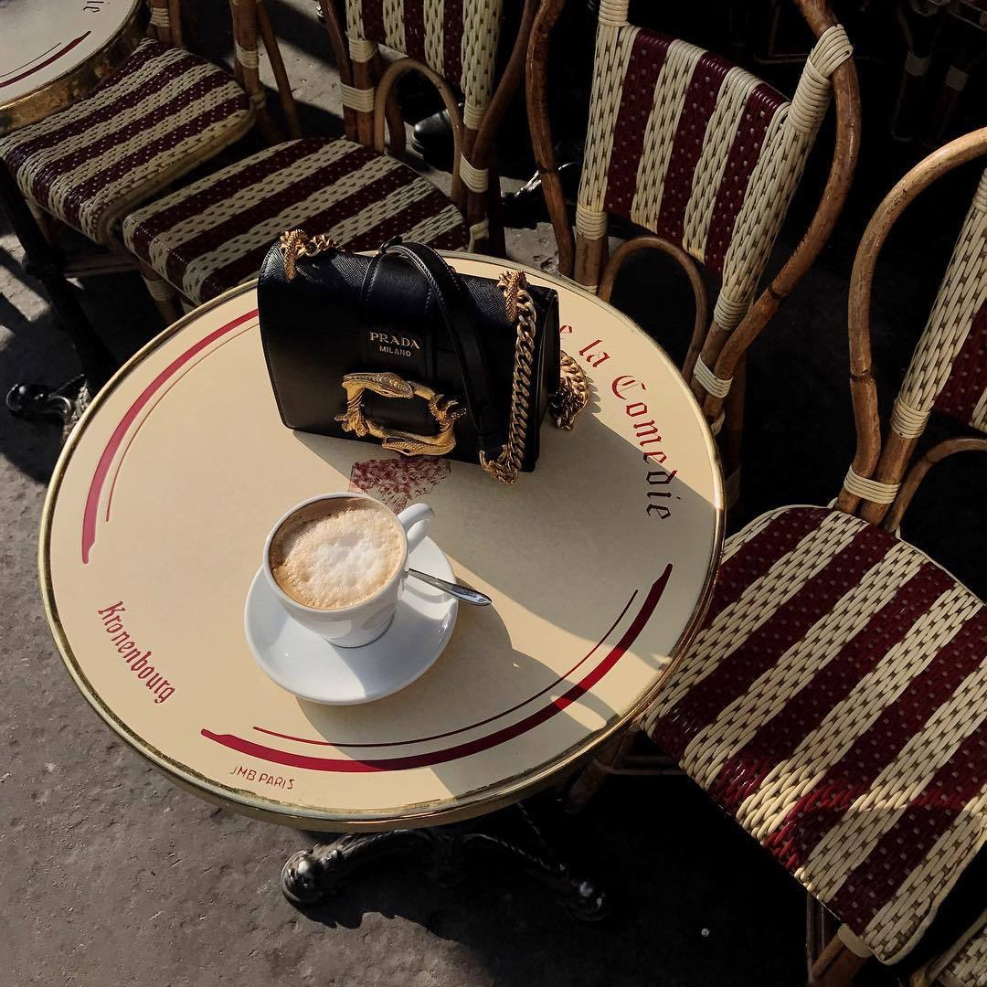coffee, vintage, bag and style