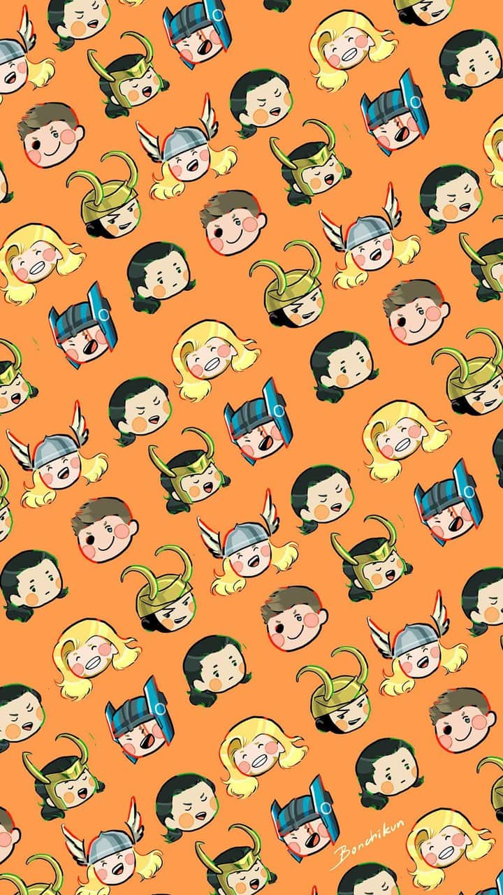 Marvel, cute, thorki and wallpaper