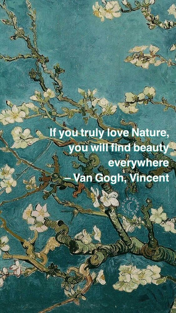 flowers, nature, green and van gogh