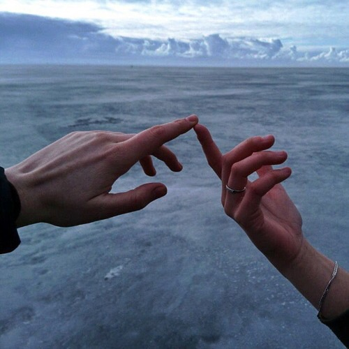 sea, love, touch and hands