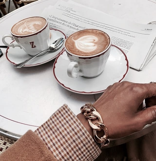 coffee art, latte, coffee time and jewelry