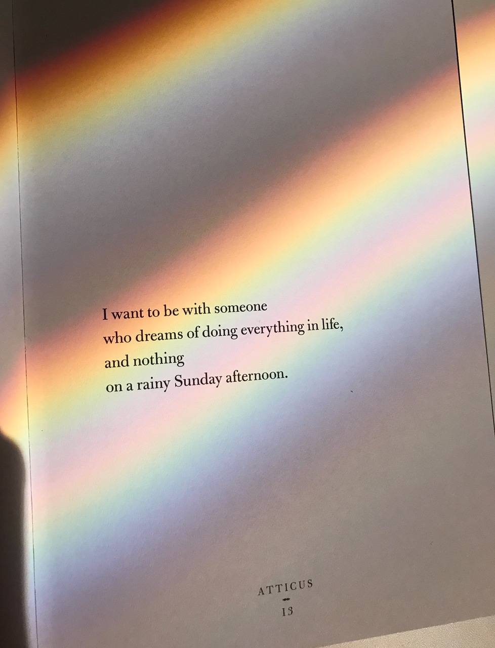 poetry book, poetry, rainbow paper and rupi kaur
