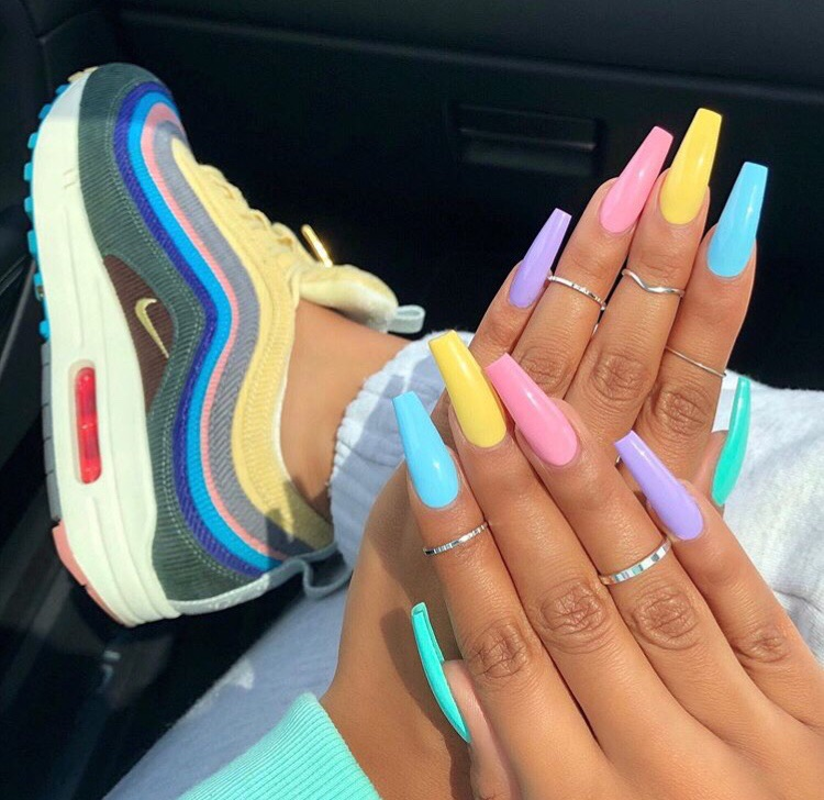 acrylics, claws inspo, girly inspiration and nails goals