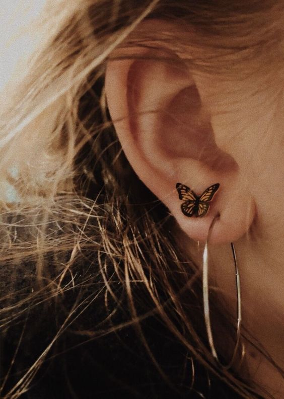 Piercings, butterfly, cute and cute earring