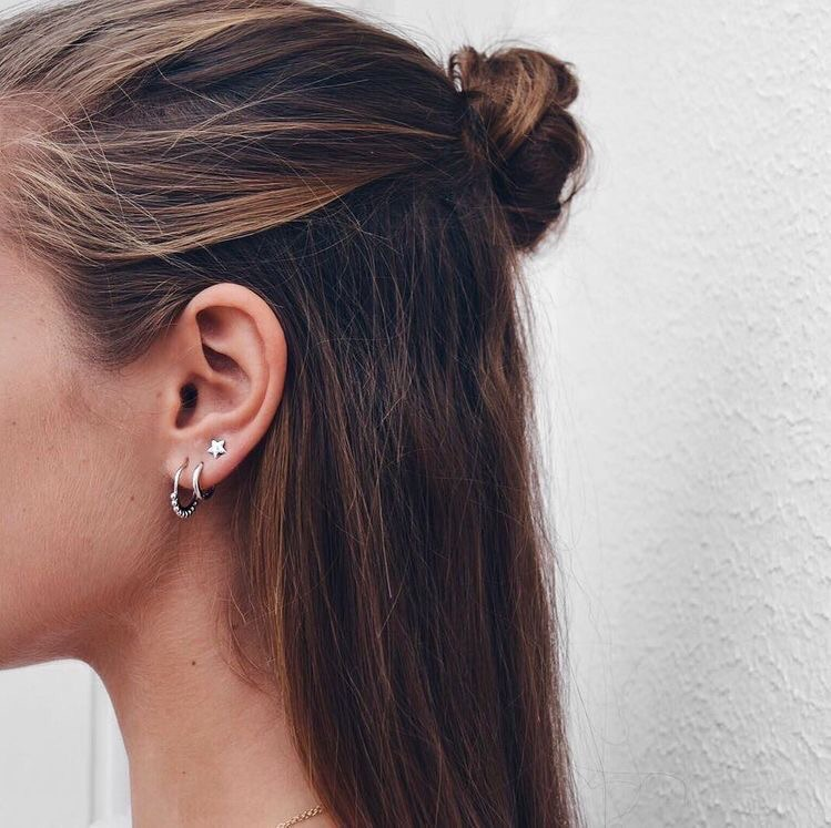 star, earings, stylé and piercing