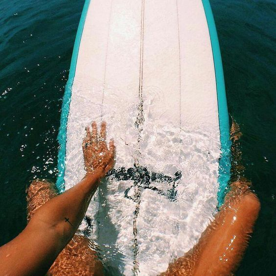 girl, surfboard, surfing and summer