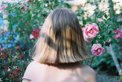 aesthetic, floral, girl and hair