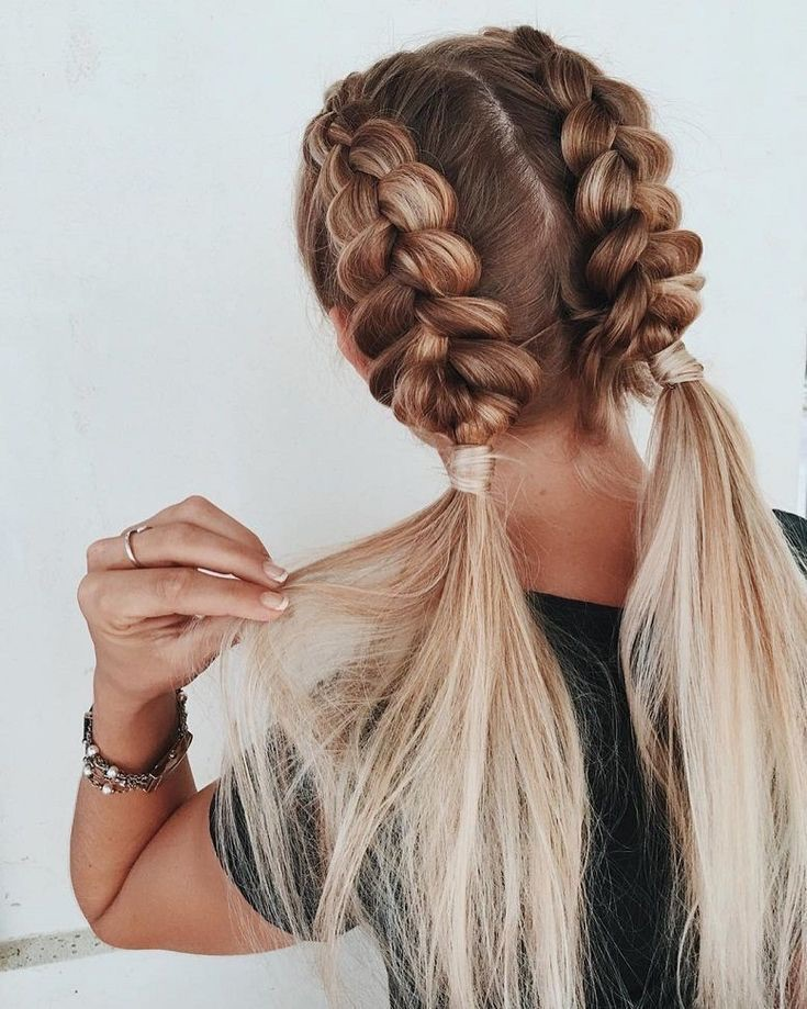 blonde, braids, hair and hairstyle