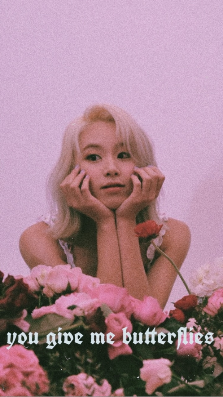 aesthetic, butterflies, chaeyoung and edit