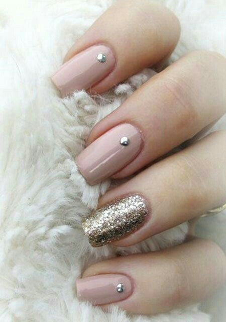 bling, gel, glitter and mid long manicure