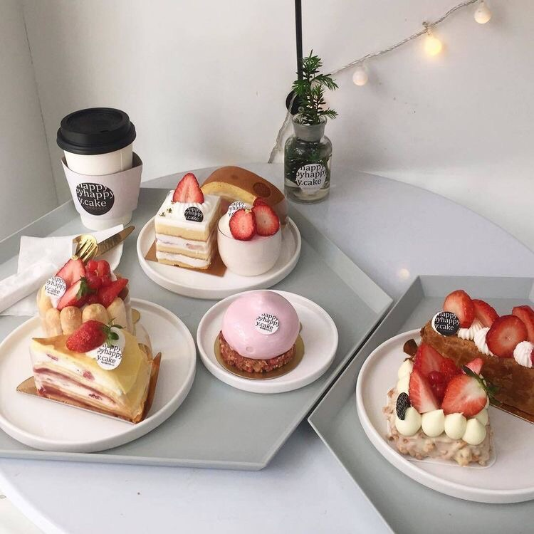 FRUiTS, cake, cream and cute