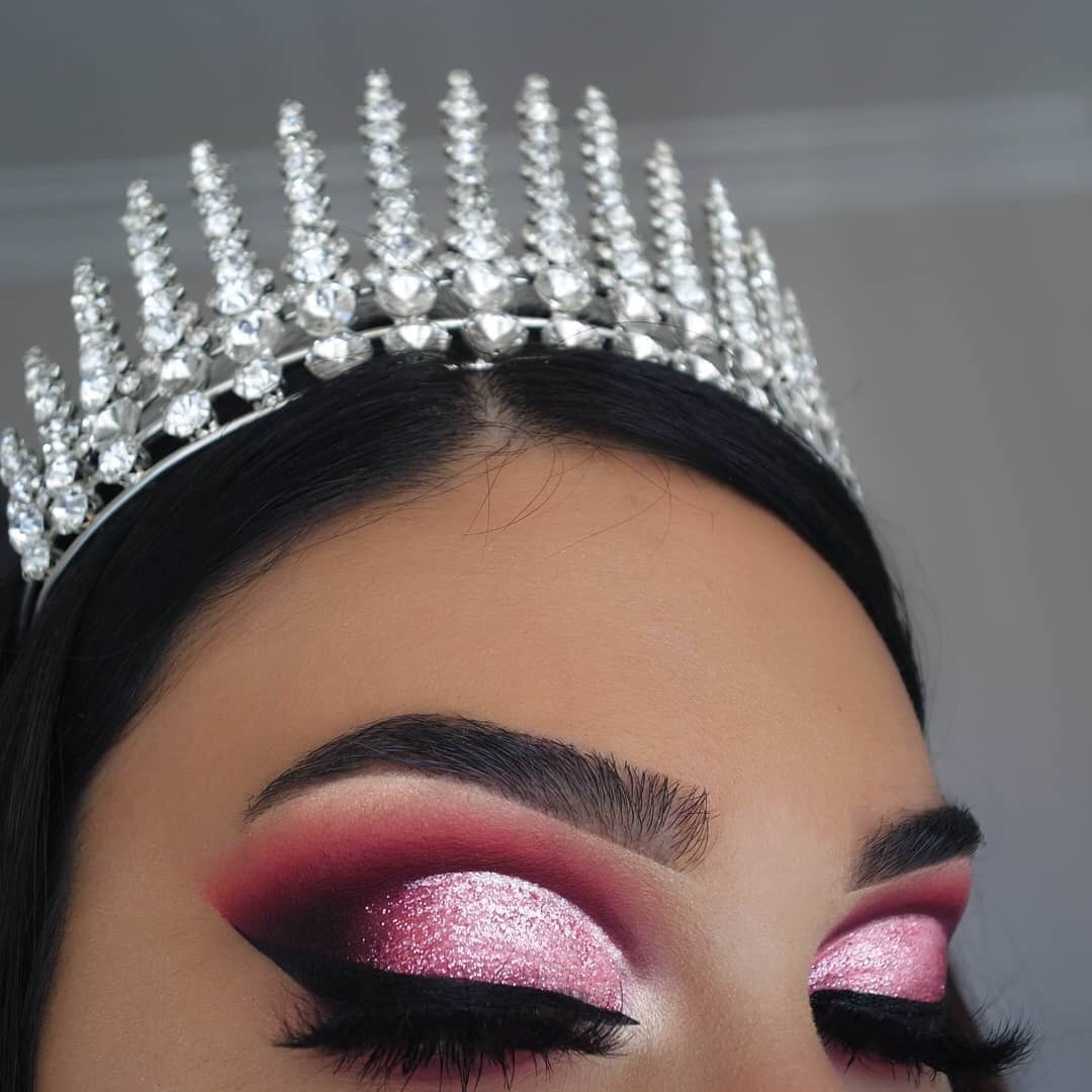 Prom, beauty, crown and eyeshadow