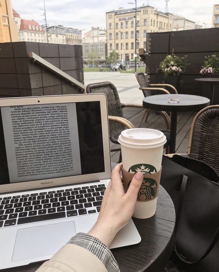 apple, book, coffee and computer