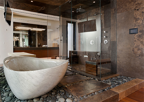 bathroom, design, home and interior