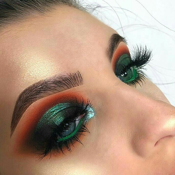 beauty, eyes, green and makeup