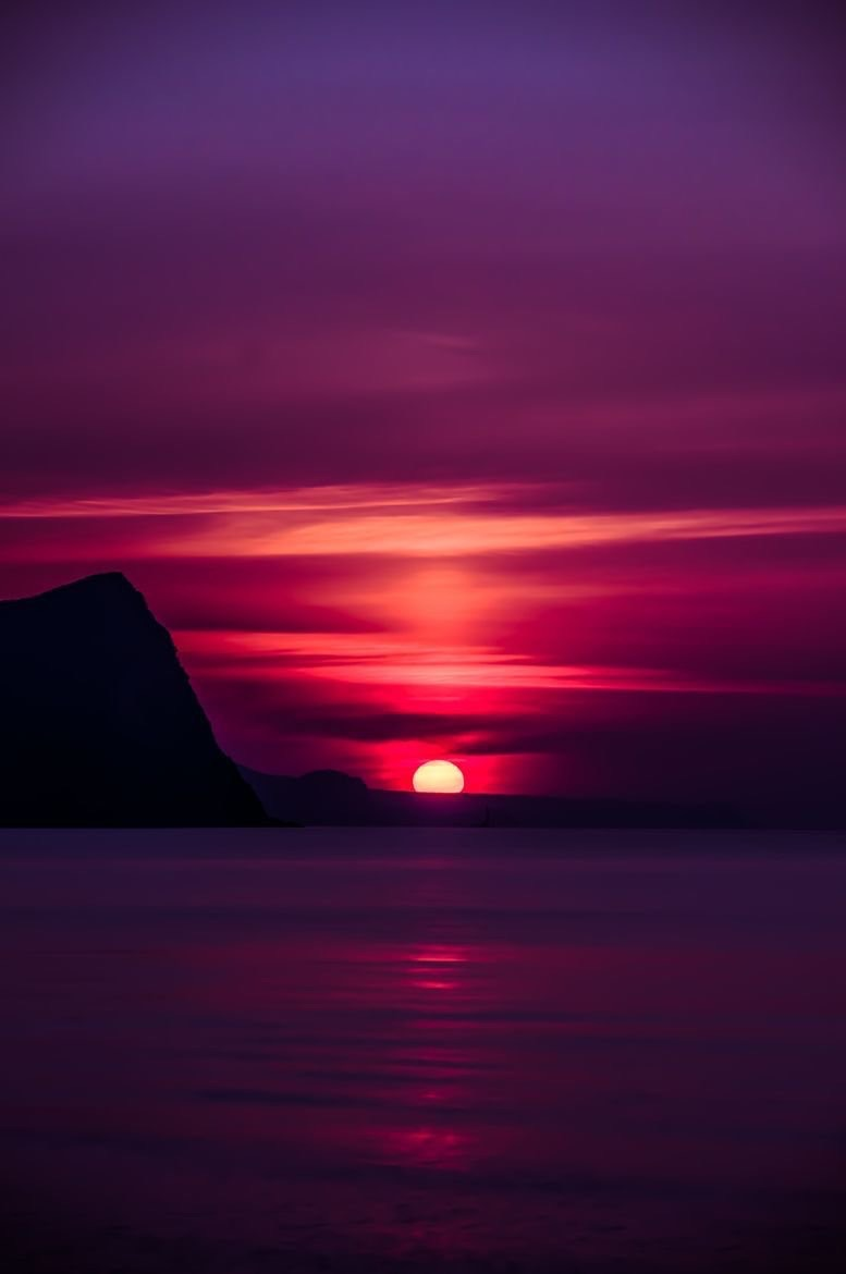 cool, sunset, pink and love
