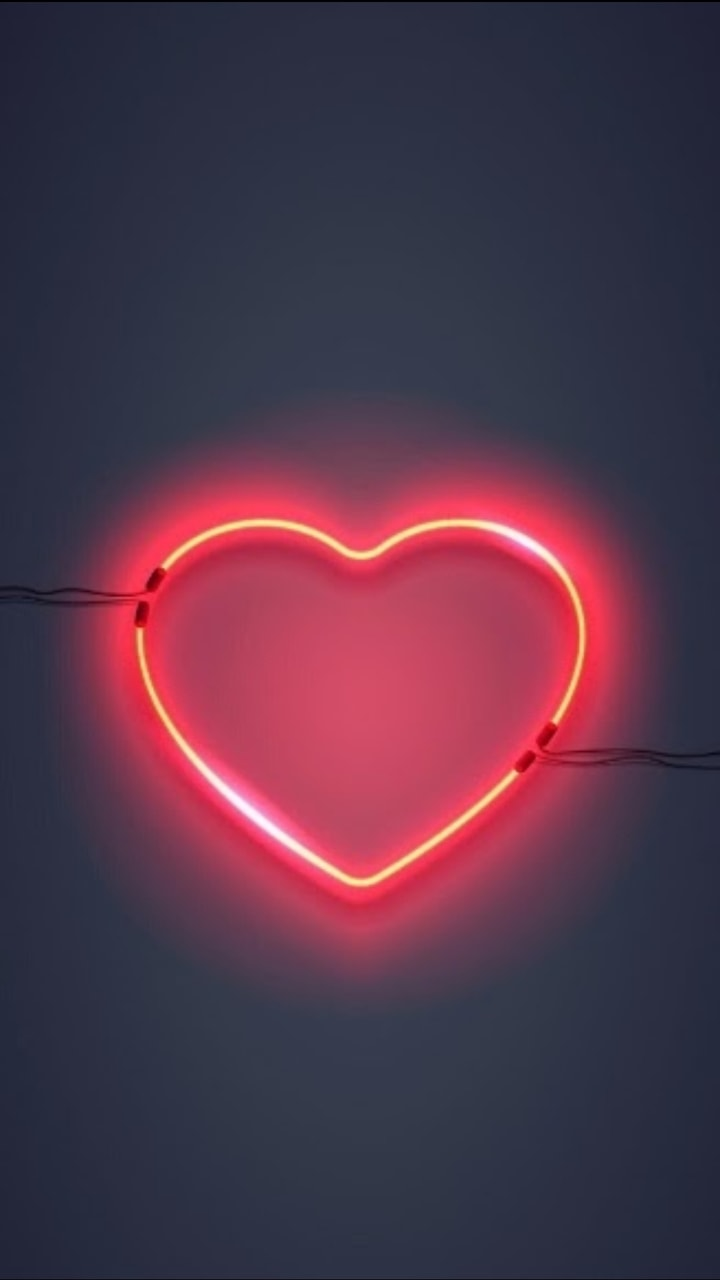 heart, neon, aesthetic and iphone wallpaper