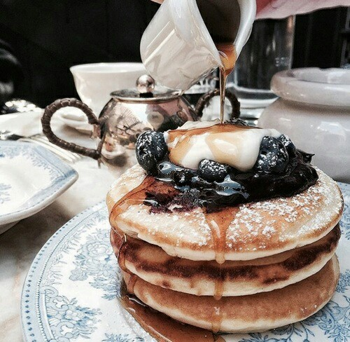 aesthetic, delicious, food and pancakes