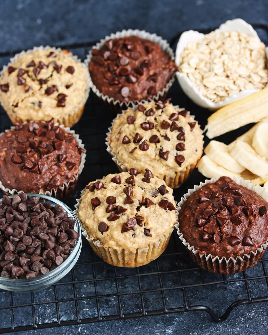banana, chocolate, cookie cookies and cupcake cupcakes