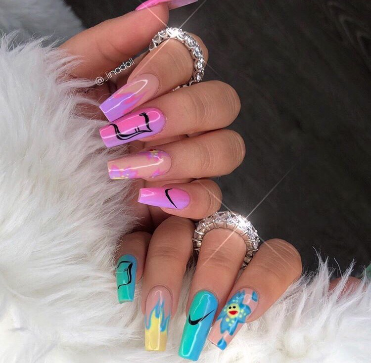 nails goals, girly inspiration, acrylics and claws inspo