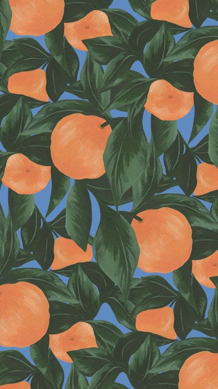 leaves, background, green and peaches