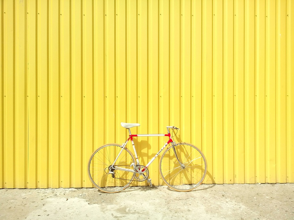 aesthetic, bicycle, bright and colors