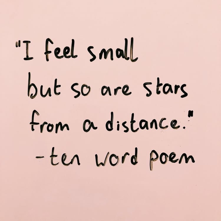 stars, words, distance and quotes