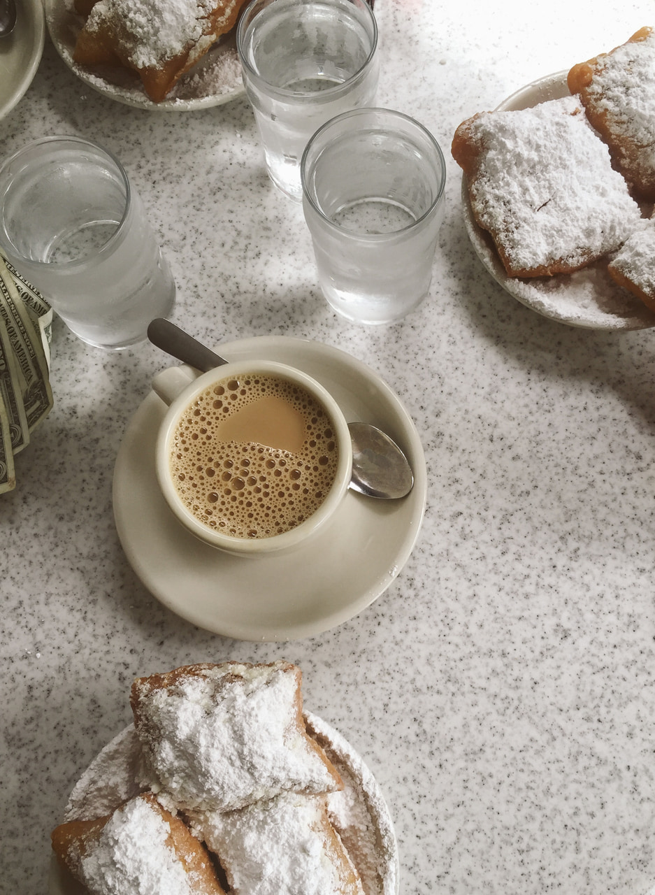 coffee, sweet, new orleans and cafe du monde