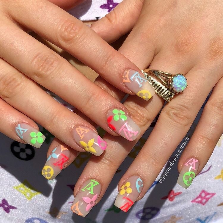 pretty, nails, nineties and green
