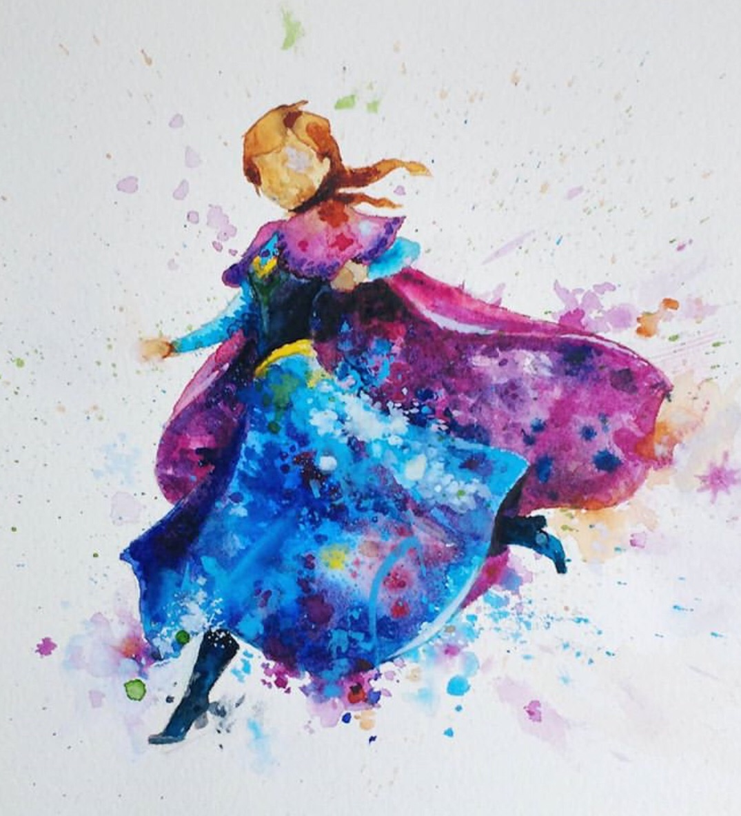 drawing, creativity, water colour and anna