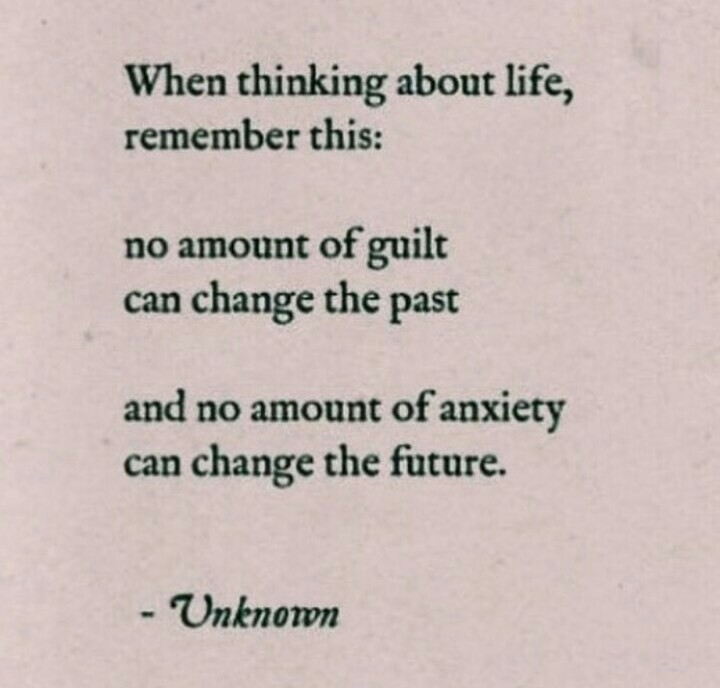 quote, anxiety, guilt and life
