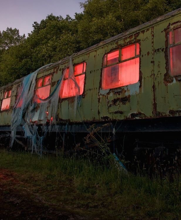 abandoned, creepy, transport and scary