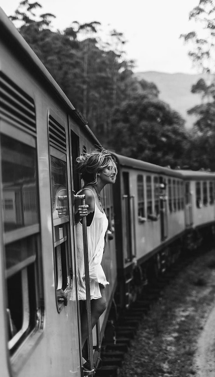 travel, girl, journey and train